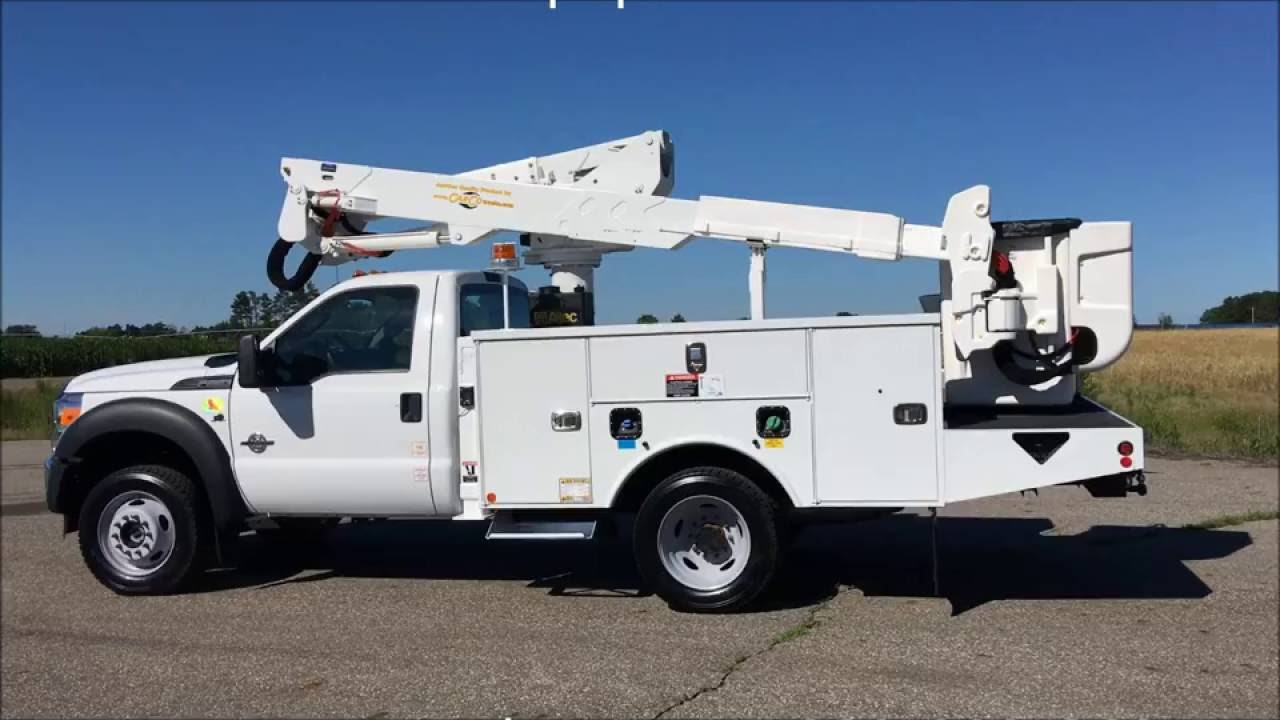F550 For Sale >> Ford F550 Super Duty Altec AT37G Bucket Boom Lift for sale - YouTube