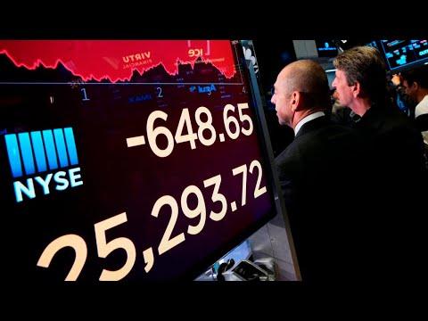 Wall Street stocks plummet amid US-China trade war escalations