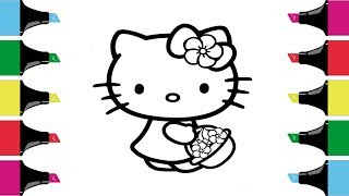 HELLO KITTY Coloring Pages | How to color Hello Kitty |Coloring book