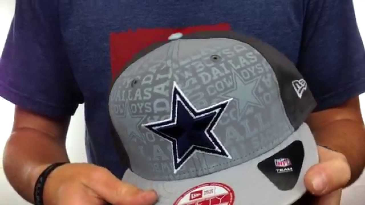 Cowboys  2014 NFL DRAFT SNAPBACK  Grey-Grey Hat by New Era - YouTube fc7969510981