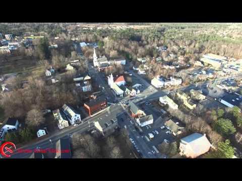 Aerial of Town of Gorham, Maine