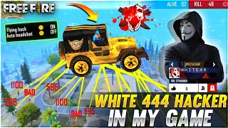 White444 YT Caught Using Hack !!! 😳💔 World Fastest Player Is Hacker ❌🔥 - Garena Free Fire