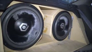"""How Loud Is It? 2 Sound Qubed HDC4 15""""s on 2,000 Watts"""
