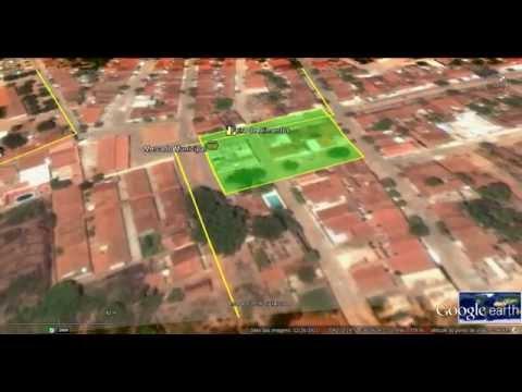 Manaíra-PB Delimitação de área urbana 3D