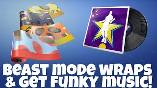 Fortnite: Beast Mode Wrap Bundle & Get Funky Music!