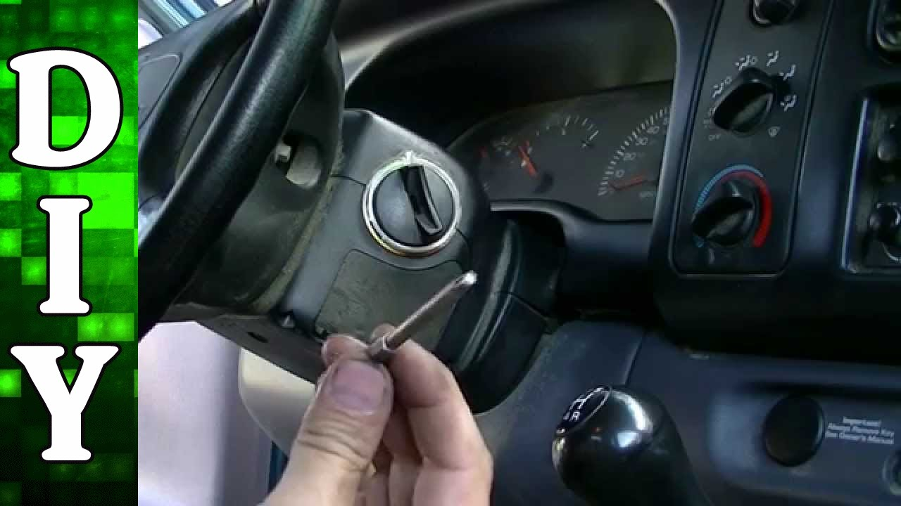 how to remove and replace an ignition lock cylinder dodge dakota 2000 Dodge Neon Steering Column Diagram youtube premium