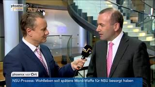 Brexit-Verhandlungen: Interview mit Manfred Weber am 12.09.17