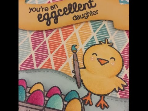 A Good Egg - Colouring and Card Process
