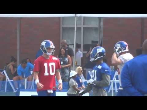 Sony HX300: NY Giants Hurry-up Offense Drill 2013 Training Camp