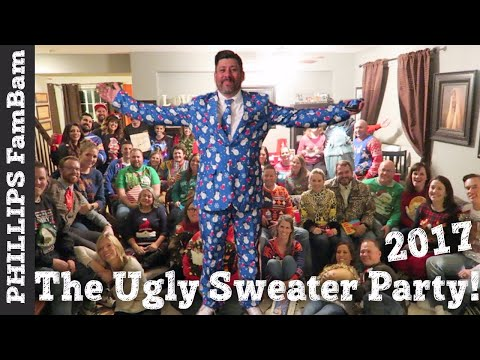 THE CHRISTMAS UGLY SWEATER PARTY 2017 | WHITE ELEPHANT GIFT EXCHANGE | PHILLIPS FamBam Vlogs