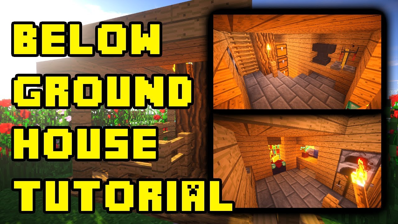 Minecraft Underground House Base Design Ideas Build Tutorial Xbox Pe Ps3 Pc Youtube