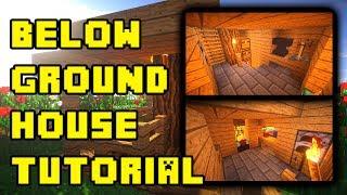 minecraft underground house base design ideas build tutorial xbox pe ps3 pc