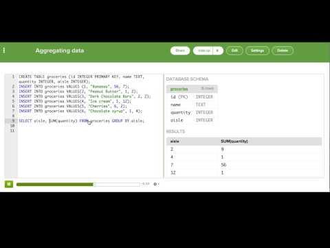 Aggregating data | Intro to SQL: Querying and managing data | Computer Programming | Khan Academy