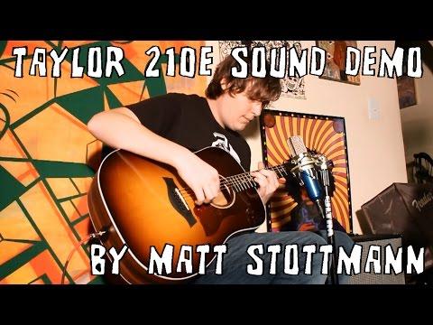 Taylor 210e Dreadnought Acoustic Electric Guitar Sound Demo