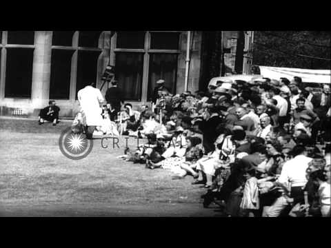 Arnold Palmer holds the British Open Championship trophy in Troon, Scotland. HD Stock Footage