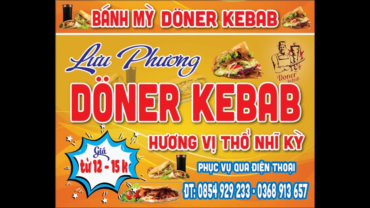 Chia sẻ File TK mẫu biển Bánh Mỳ Doner Kebab   Quảng Cáo Yên Bái   QCYB