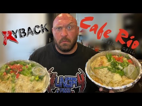 Cafe Rio Mexican Grill Burrito Food Review - Ryback It's Feeding Time