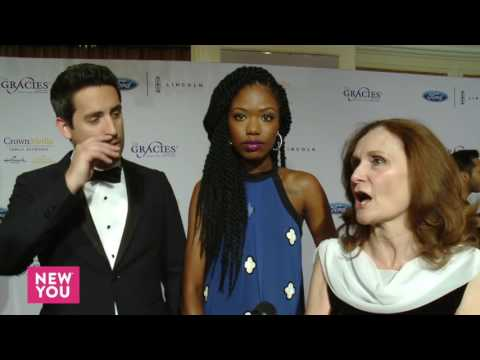 Ed Weeks, Xosha Roquemore, and Beth Grant at The 41st Annual Gracie Awards