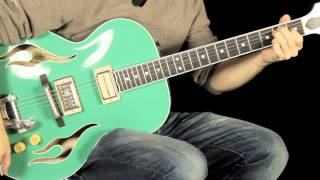 "Blue Belly ""green Flame"" Hand Crafted Vermont Maple Archtop Demo"