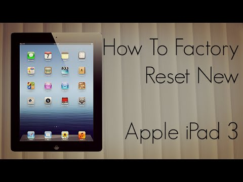 How to set an ipad 3 back to factory settings