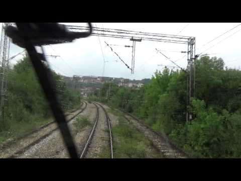 Train Driver's view: railroad in Serbia from  Rakovica to Resnik - SERBIAN RAILWAYS