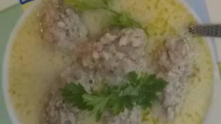 Суп(рецепт) по ГРЕЧЕСКИ,ΓΙΥΟΒΑΡΛΑΚΙΑ,суп с фрикадельками,греческая кухня