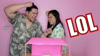 WHAT'S IN THE BOX CHALLENGE (LAPTRIP HA HA HA)