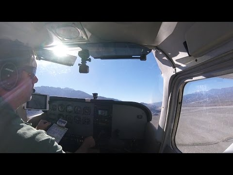 Palm Springs to San Diego Cessna 172 and Over the Scientology Center