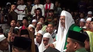 Suarany Huja lebat mati lampu, Mic mati Tetap Rawuh HABIB LUTFI - HAUL RADEN PATAH DEMAK 28/02/2018