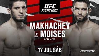 ANÁLISES   Card Preliminar UFC on ESPN: Makhachev vs Moisés