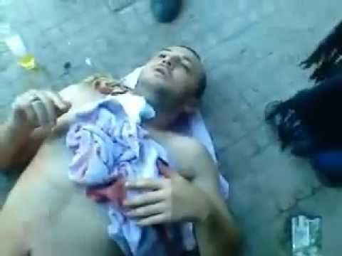 18+ Syria Army Shoot Latakia Civilian in the chest as Dictator