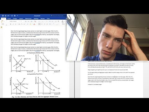 Writing My Economics Degree Essay Live! // BSc Economics & F