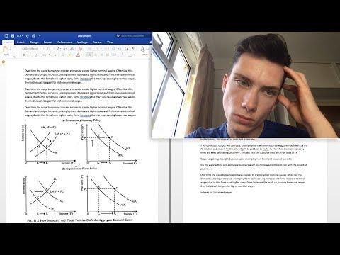 Writing My Economics Degree Essay Live! // BSc Economics & Finance