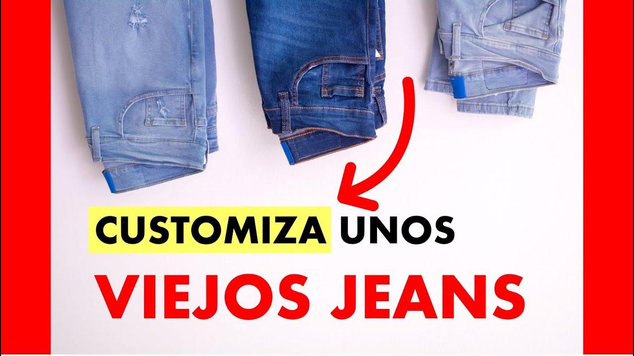 Idea Para Personalizar Unos Jeans Con Pintura Textil Youtube