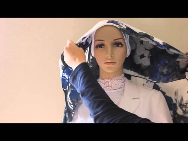 Square Hijab Tutorial 1 Youtube
