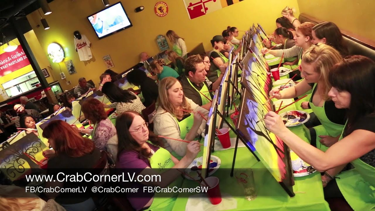 why people love paint nite at crab corner southwest | best seafood