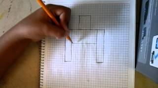 Como dibujar a un golem de minecraft