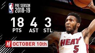 Derrick Jones Jr. Highlights Pelicans vs Heat - 2018.10.10 - 18 Pts, 4 Ast, 3 Steals! Video