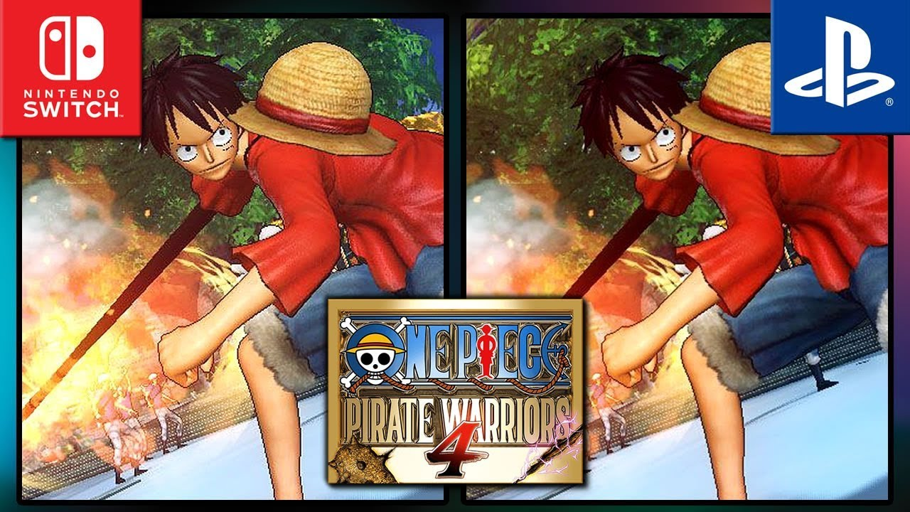 One Piece Pirate Warriors 4 | Switch VS PS4 | Graphics Comparison & Frame Rate Test