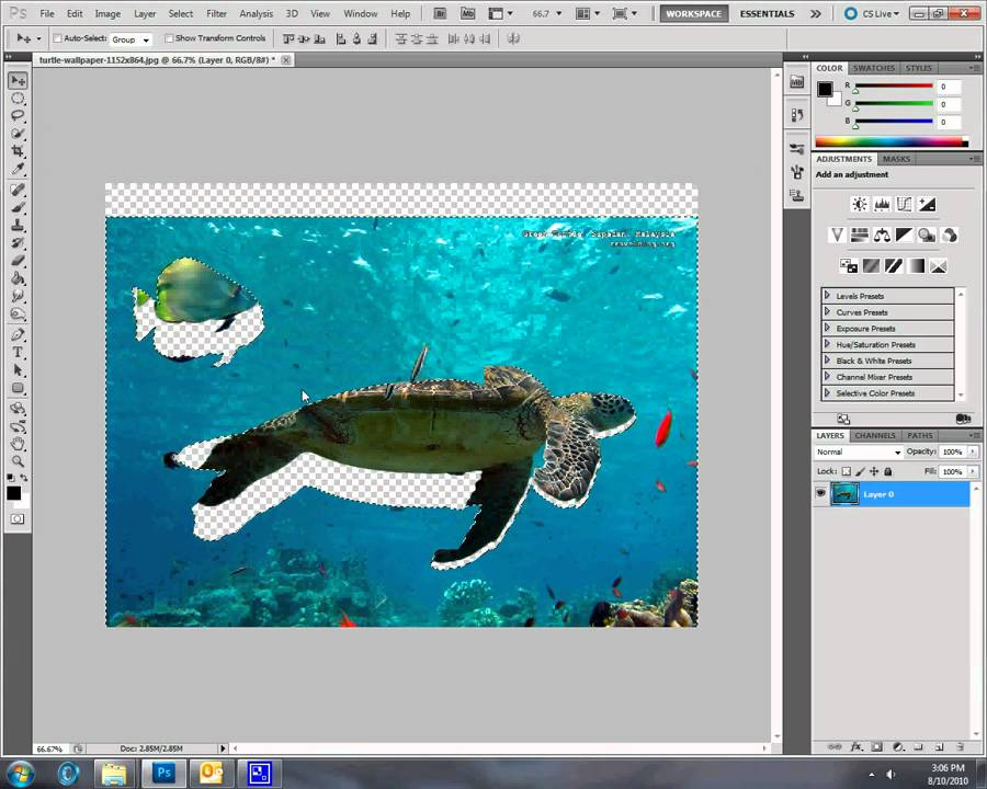 how to cut out an image in photoshop cs5