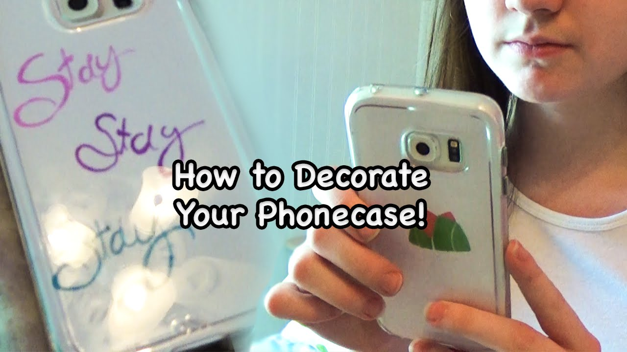 How To Decorate Phone Cases Diy Youtube