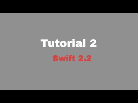 Tutorial 2 (Constant , Variable , Type safety  , Int & UInt , Double)(Swift 2.2 + Xcode 7)