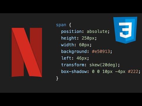 DIBUJA con CSS el LOGO de NETFLIX 🎬 en 30 SEGUNDOS 😱 #shorts