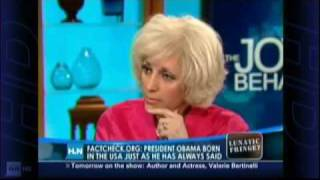Orly Taitz gets Joy Behar very nervous about the Obama Eligibility case
