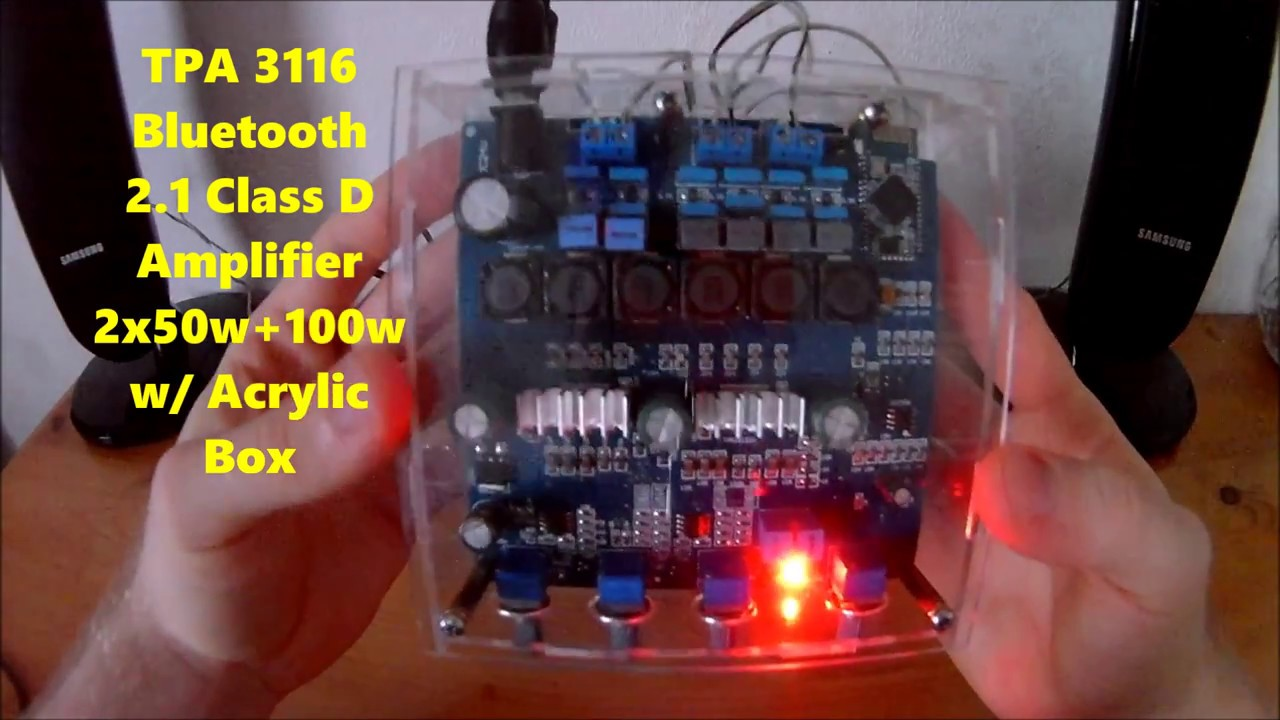 Tpa 3116 2x50w 100w Amplifier Hands On Install And Testing By Stereo Class D Audio Power Circuit Board Ebay