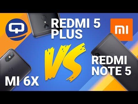 Сравнение Xiaomi! Redmi Note 5, Redmi 5 Plus и MI 6X / QUKE.RU /