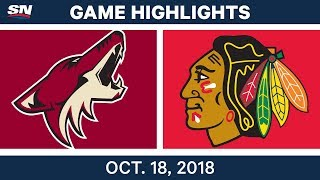 NHL Highlights | Coyotes vs. Blackhawks - Oct. 18, 2018