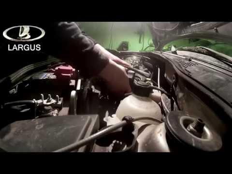 Как заменить воздушный фильтр на ларгусе 16 клапанном видео