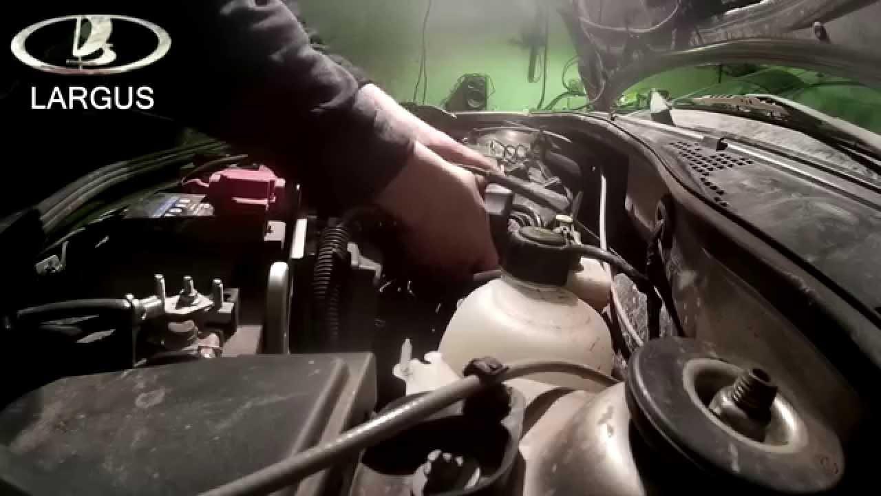 Инструкция по замене масла в двигателе Лада Ларгус