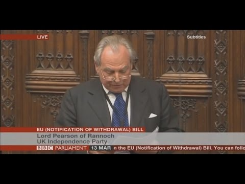 UKIP Lord Pearson - A Lesson in Democracy